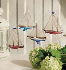 WALLIES SAILBOATS wall stickers 12 decals Ocean Sea Nautical decor scrapbook