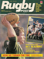 RUGBY POST Apr 1982 ENGLAND MAGAZINE