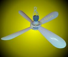 Mobile Ceiling fan 230V , 4 Blades Ventilator Very Quiet Plastic