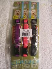 Cadet Dog COLLAR size 8-12 toy size black, pink, purple Lot of 3