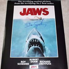 DIRECTOR STEVEN SPIELBERG SIGNED 'JAWS' FULL SIZE 24X36 MOVIE POSTER W/COA PROOF