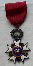 Médaille CROIX DE CHEVALIER ORDRE DE LA COURONNE DE BELGIQUE ORIGINAL COLONIAL