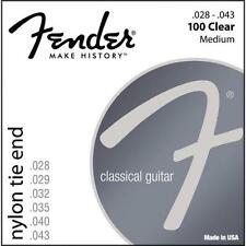 Fender 100 Clear Nylon Classical Guitar Strings 28-43 tie end