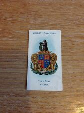 Cigarette Card Wills Third Series Borough Arms No 142 Walsall M915