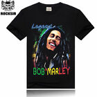 Men 3D Bob Marley Short Sleeve Fit T-Shirts Tops Crew Neck Casual Tee YGTXS007-7