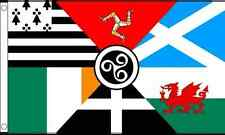 Celtic Nations 5'x3' Flag Nationalist Scottish Irish