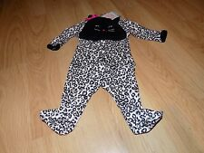 Size 3 Months Carter's Cheetah Leopard Cat Halloween Costume Sleeper w Hat New