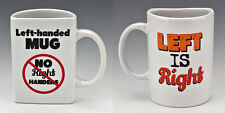 Novelty Left Handed Mug Tea Coffee Cup for Left Handed People Joke Gag Gift