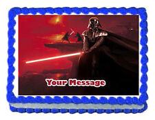 "Star Wars Darth Vader Edible Icing Image Cake topper Decoration -7.5""x10"""
