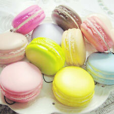 3D Mini Dessert Macaron Squishy Cell Phone Charm Colorful Kids Toy Pressed Foam