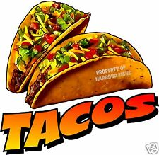 "Tacos Decal 14"" Taco Mexican Restaurant Concession Food Truck Menu Sign Stickers"