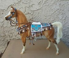 Traditional Show Ring Arabian Costume Model Horse Blue Brown Peter Stone Breyer