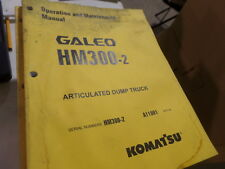 KOMATSU GALEO HM300-2 ARTICULATED DUMP TRUCK OPERATION & MAINTENANCE MANUAL S