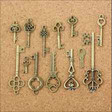 13pcs Antique Bronze Alloy Small Keys Pendant Jewelry Findings Charms DIY Craft