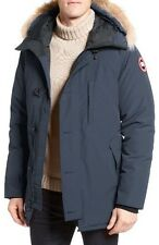 Canada Goose 'Chateau' Slim Fit Genuine Coyote Fur Trim Jacket, L, Black