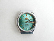 Vintage  ORIENT Crystal 21 Jewels Day/Date Automatic Japan Men`s Wrist Watch