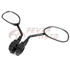 """Black For 7/8"""" Handlebar Motorcycle Bicycle Side Rear View Mirror Universal FM"""