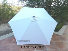 9ft Patio Garden Market Umbrella Replacement  Canopy  Cover Top  6 ribs. Off Whi
