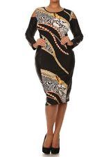 Plus Color Block Hourglass Bodycon Midi Dress Faux Leather Cut Out Shoulder