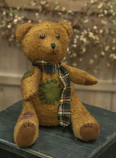 "Sitting 11 1/2"" Patches Bear Brown Decorative Country Primitive Teddy"