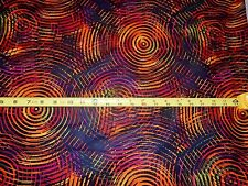 """108"""" Wide Circle Play Quiltback Henry Glass 8700-38 Multi/Orange Cotton fabric"""