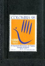 Colombia C903, MNH, 4th Bolivar Philatelic Exhibition 1998. x23599