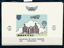 75787) Aufkleber Label sticker FISA AIRPEX 70 Vignettenblock Farciennes Belgien