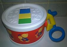 Fisher Price Musical Drum set Vintage XYLOPHONE Red Teddy DRUM Rare 1970's Toy