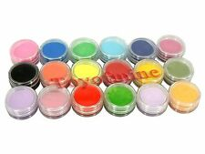 US Dispatch 18 Colors acrylic Powder liquid Glitter Nail Art Tool Kit UV Dust