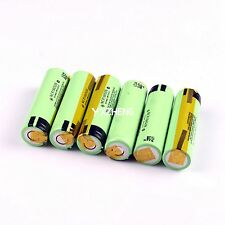 6PCS Panasonic NCR18650B 3.7V 3400mAh Rechargeable Li-ion Battery with Tabs
