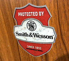 Aufkleber Sticker Protected by Smith & Wesson Oldschool/Retro/Hot Rod/Rockabilly