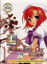 DVD ANIME WHEN THEY CRY Higurashi no Naku Koro Ni Vol.1-26End Region All English
