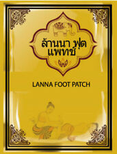 [LANNA] Thailand Natural Herbal Detox Foot Patch 10 Pcs / 1 Pack NEW