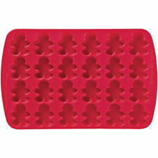 Bite-Size Gingerbread Boy Silicone Mold Pan 24 cavity from Wilton #4901- NEW