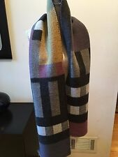 NEW BURBERRY HALF MEGA CHECK BLANKET SCARF WOOL CASHMERE WRAP SHAWL COLOUR BLOCK