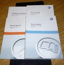 2011 VW GTI GOLF GTI GTD OWNERS MANUAL SET 11 w/case + NAVIGATION GUIDE