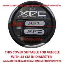 XDC BLACK & GREY STEERING WHEEL COVER MAZDA RX7,MX5,ASTINA,BRAVO,121,323,626,929