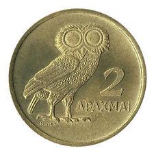 Greece Grece Grecia 1973 B  2  Drachma  , Athenian Owl , Phoenix , UNC