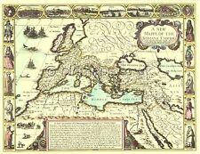 Imperio Romano réplica j.speed. toda la mano de color 17c. Mapa Antiguo única idea de regalo!