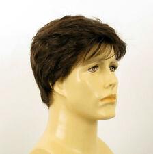 Perruque homme 100% cheveux naturel châtain ref ALAIN 6spw