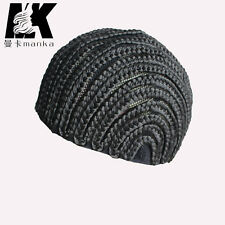 New Type Black Color Synthetic Braid Cap Crochet Braid Glueless Wig Caps EUB