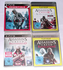 Jeux: assassin's Creed 1 + 2 + Brother + revelations pour la playstation 3/ps3