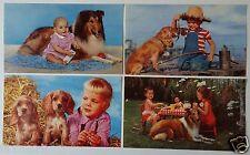 KIDS & PETS 1950's Calendar Photos - A. Scheer - #643 - #639- #640 - #645