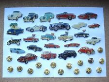 SALE VINTAGE MOTOR CARS AUTOMOBILE FERRARI PORSCHE PIN BADGE JOB LOT CAR BUNDLE