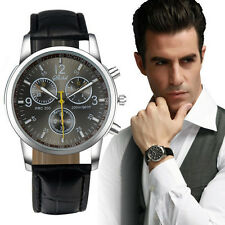 "New Luxury Fashion Crocodile Faux Leather Men""s Analog Watch Watches Cheap"