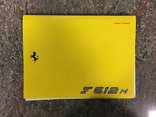 1995 Ferrari F512 M Owner's Manual