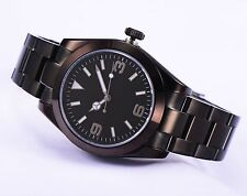 40mm Parnis Black Dial PVD coated Stainless Steel Automatic Men's Watch 027