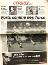 Cahier Spécial Coupe du Monde de L'équipe du 23 juin 2002 - Football