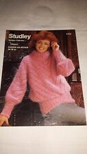 Vintage/Retro Knitting Pattern Studley  Jumper 1121