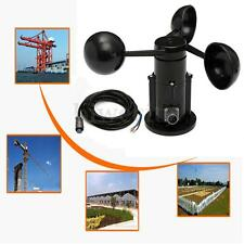 Wind Speed Sensor Anemometer Three Cups Aluminium Alloyed Voltage Output Type